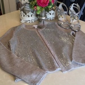 Chico's Sweaters - Gorgeous sequined Chico's sweater jacket